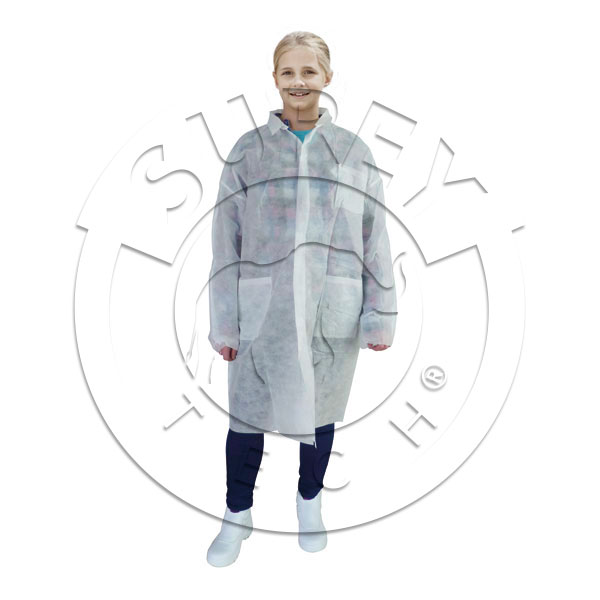 Polypropylene velcro work coat for children