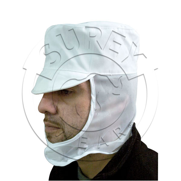 Active cap with head cover net
