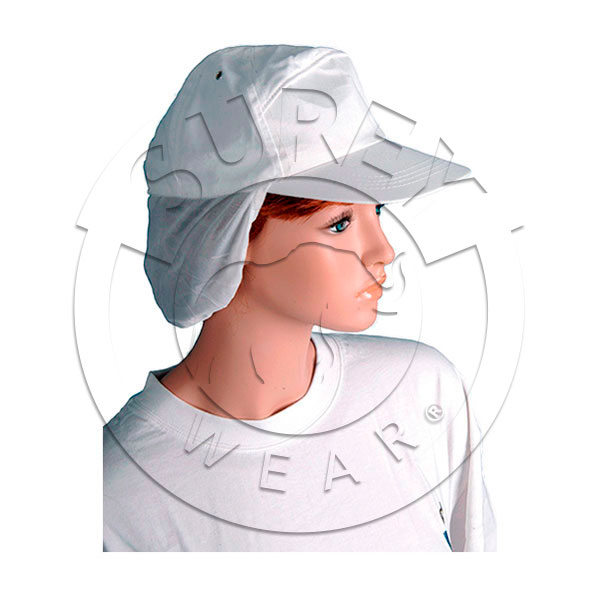 Baseball cap with hair cover